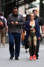 JENNIFER LOPEZ Heading to a Gym in New York 08/27/2017