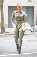 JENNIFER LOPEZ in Jumpsuit Out in New York 08/25/2017
