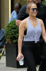 JENNIFER LOPEZ Leaves a Gym in New York 07/25/2017