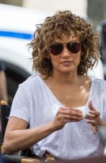 JENNIFER LOPEZ on the Set of Shades of Blue in New York 08/08/2017