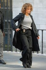 JENNIFER LOPEZ on the Set of Shades of Blue in New York 08/16/2017