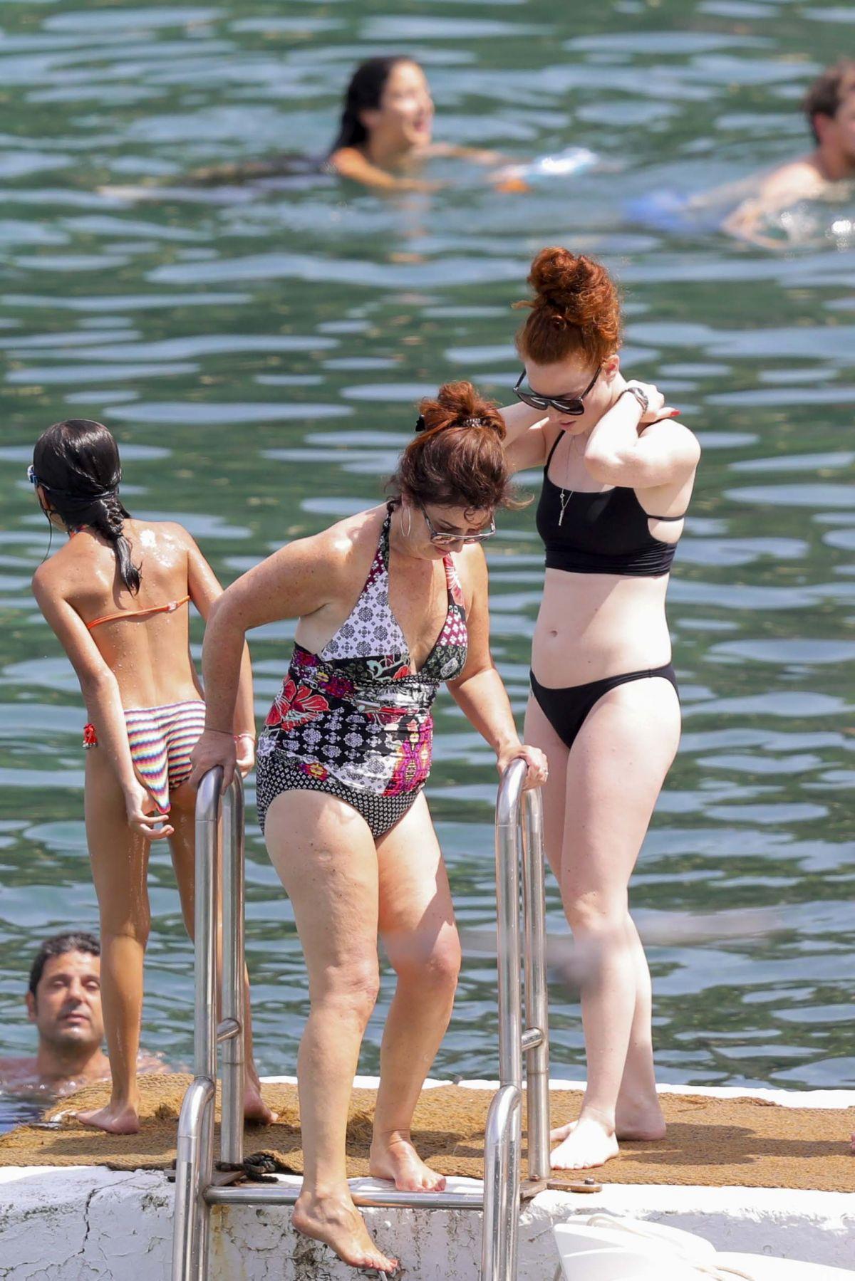 JESS GLYNNE in Bikini in St Jean Cap Ferrat 08/08/2017