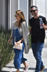 JESSICA ALBA  and Cash Warren Out in Los Angeles 08/20/2017