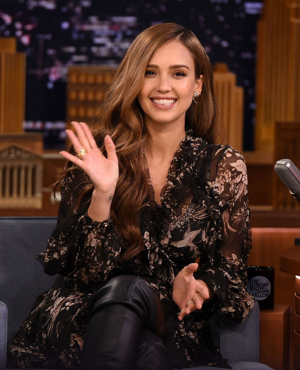 JESSICA ALBA on the Set of Tonight Show Starring Jimmy Fallon in New York 08/04/2017