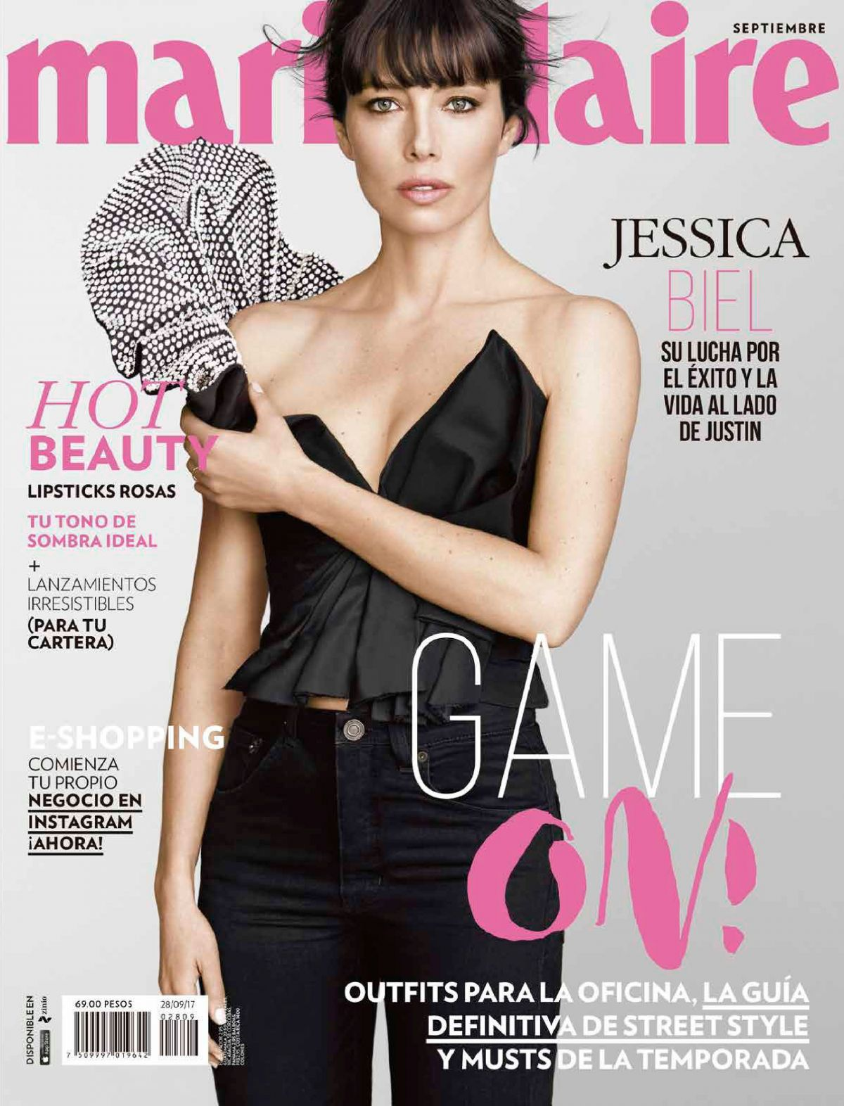 JESSICA BIEL in Marie Claire Magazine, Mexico September 2017 Issue