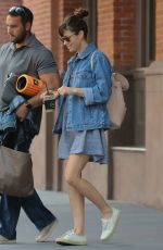 JESSICA BIEL Leaves Her Hotel in New York 08/10/2017