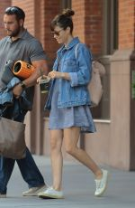 JESSICA BIEL Leaves Her Hotel in New York 08/10/2017