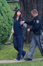 JESSICA BIEL on the Set of The Sinner in New York 08/03/2017