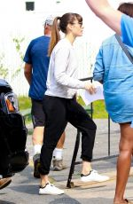 JESSICA BIEL on the Set of The Sinner in New York 08/11/2017
