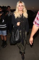 JESSICA SIMPSON at LAX Airport in Los Angeles 08/07/2017