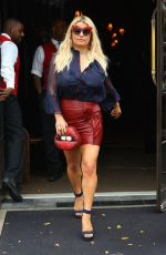 JESSICA SIMPSON Leaves Bowery Hotel in New York 08/08/2017