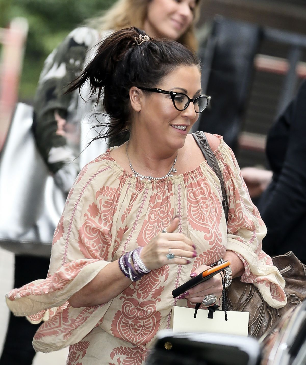JESSIE WALLACE Leaves ITV Studios in London 08/22/2017