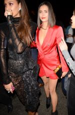 JOANN SMALLS and NINA DOBREV Leaves Calvin Harris' After-Party at Avenue Nightclub in Hollywood 08/27/2017