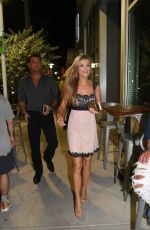 JOANNA KRUPA Out for Dinner in Miami Beach 08/17/2017