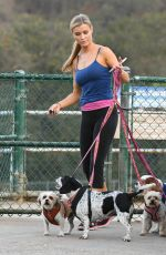 JOANNA KRUPA Out with Her Dogs in Los Angeles 08/30/2017