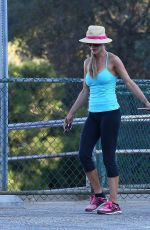 JOANNA KRUPA Takes Her Dogs to a Dog Park in Studio City 08/21/2017