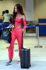 JOURDAN DUNN at Airport in Mykonos 08/13/2017