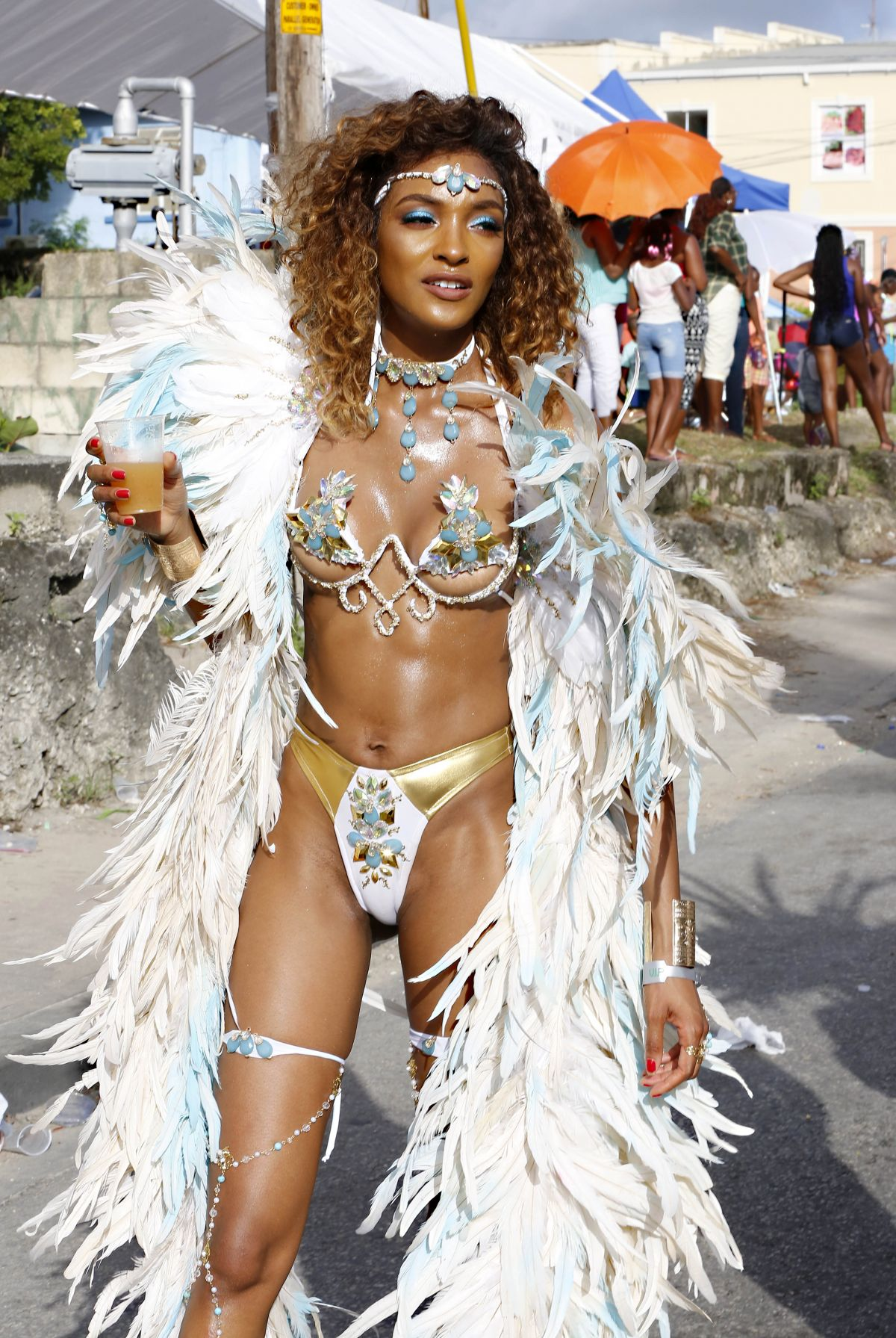 JOURDAN DUNN at Carnival in Barbados 08/07/2017