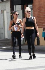 JULIANNE HOUGH and HAYLEY ERBERT at a Gym in Los Angeles 08/20/2017