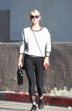JULIANNE HOUGH Heading to Tracey Anderson Gym in Los Angeles 08/10/2017