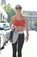 JULIANNE HOUGH Leaves Tracey Anderson Gym in Los Angeles 08/10/2017