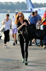 JULIANNE MOORE at Heliport in New York 08/20/2017