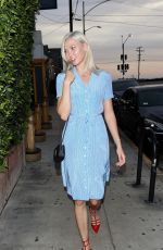 KARLIE KLOSS Out for Dinner in Los Angeles 08/02/2017