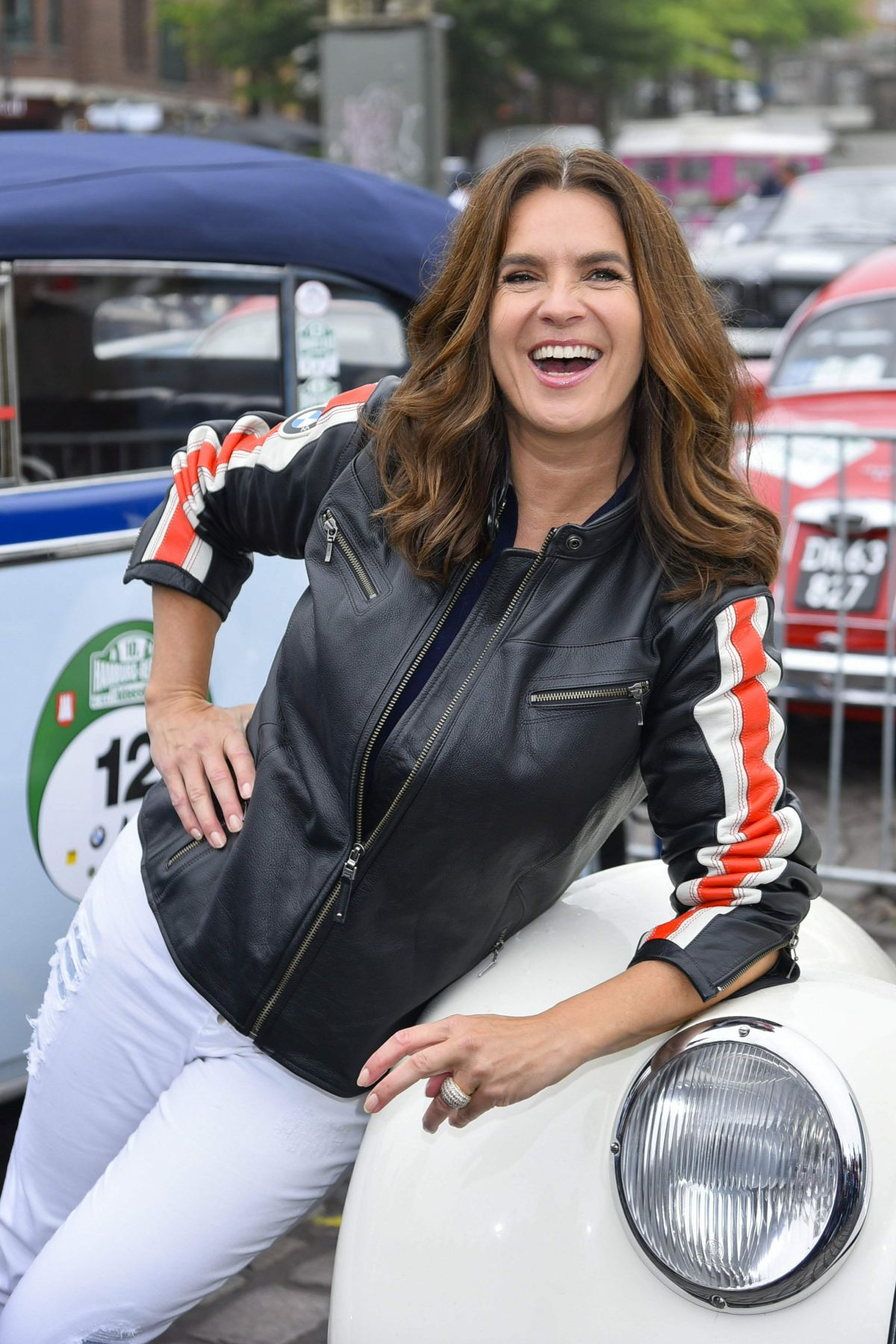 KATARINA WITT at 10th Hamburg - Berlin Classic Car Rally 08/24/2017
