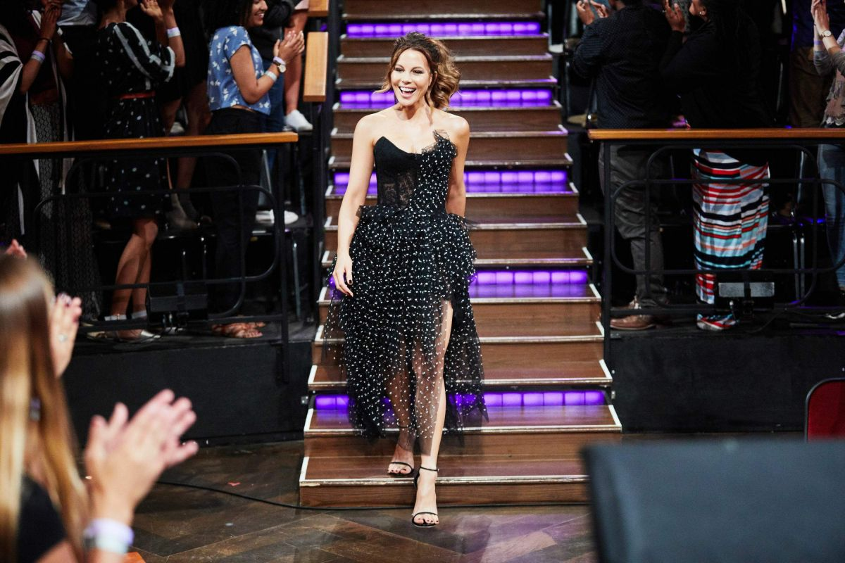 KATE BECKINSALE at Late Late Show with James Corden in Los Angeles 08/02/2017