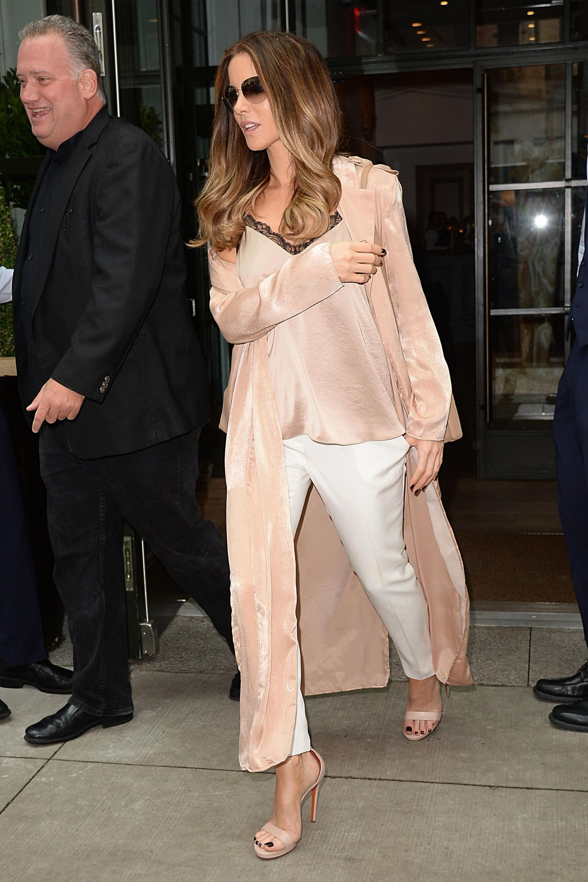 KATE BECKINSALE Leaves Her Hotel in New York 08/08/2017