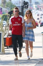 KATE MARA and Jamie Bell Out Shopping in Los Angeles 08/06/2017