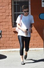 KATE MARA Leaves Ballet Bodies Class in West Hollywood 08/11/2017