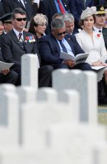 KATE MIDDLETON at Commemorations at Tyne Cot Commonwealth War Graves Cemetery in Ypres 07/31/2017
