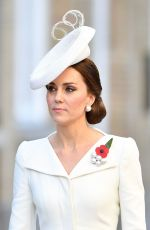 KATE MIDDLETON at Last Post Ceremony at Commonwealth War Graves Commission Ypres Memorialin in Ypres 07/30/2017