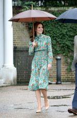 KATE MIDDLETON at Sunken Garden at Kensington Palace in London 08/30/2017