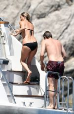 KATE MOSS in Bikini at a Yacht in Italy 07/31/2017