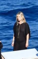 KATE MOSS on the Set of a Photoshoot in Capri 07/28/2017