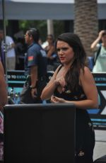 KATE STEVENS on the Set of Extra in Los Angeles 08/15/2017