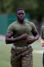KATE UPTON at a Marine Workout in Detroit 08/22/2017