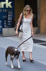 KATE UPTON Out with Her Dog Harley in New York 08/01/2017