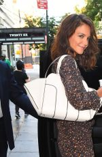 KATIE HOLMES Heading to Today Show in New York 08/16/2017