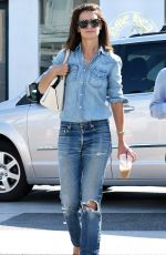 KATIE HOLMES in Jeans Out Shopping in Beverly Hills 08/03/2017
