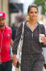 KATIE HOLMES Out Shopping on Madison Ave in New York 08/16/2017