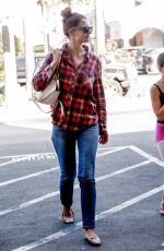 KATIE HOLMES Shopping at CVS in Los Angeles 08/22/2017