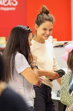 KATIE HOLMES Shopping at Michaels Crafts Store in New York 08/17/2017