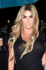 KATIE PRICE at a Party in Blackpool 08/29/2017