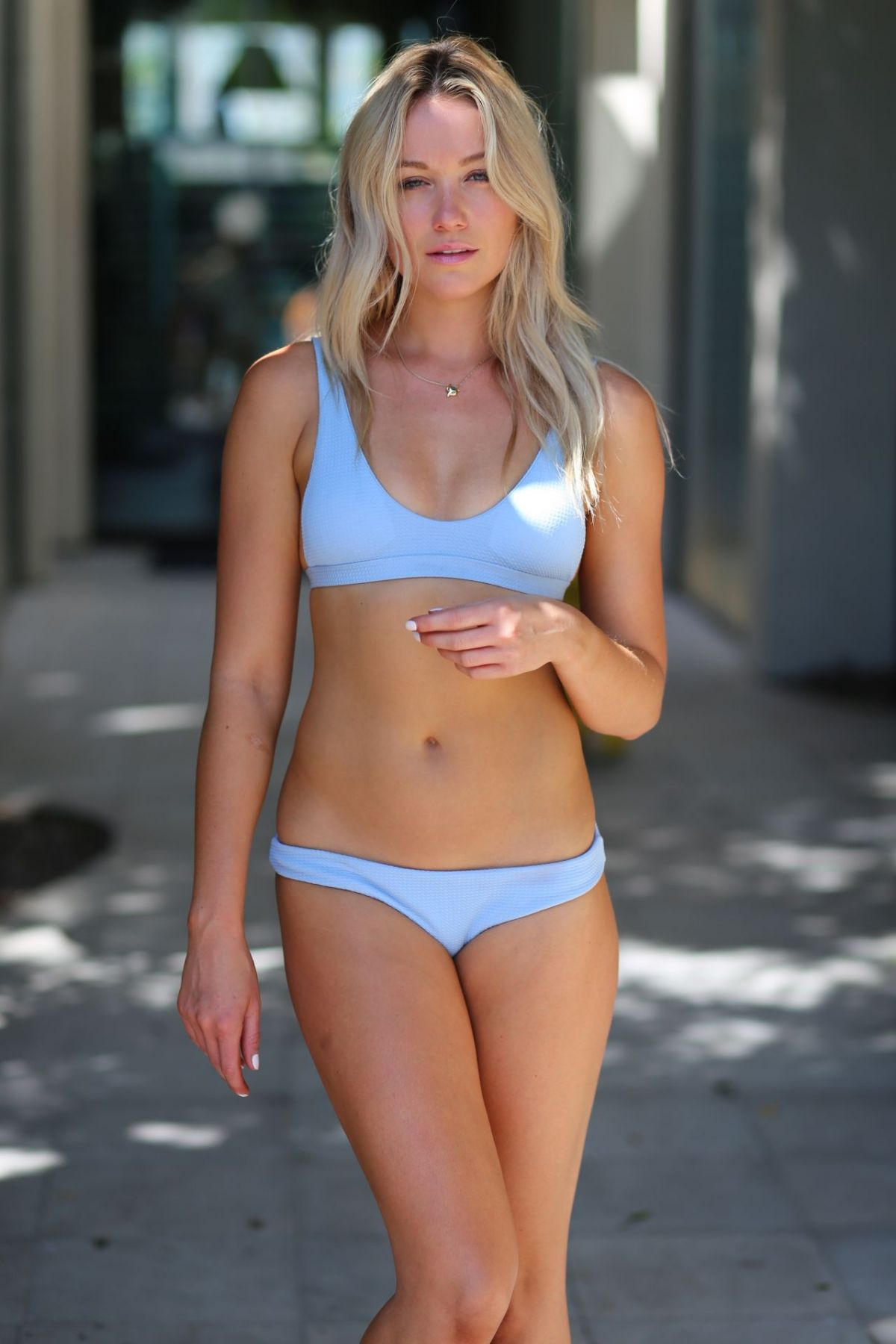 KATRINA BOWDEN in Bikinis on the Set of a Photoshoot, August 2017