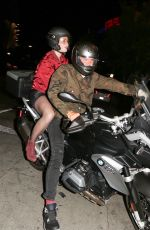 KATY PERRY and Orlando Bloom at a Motorcycle Out in Los Angeles 08/14/2017