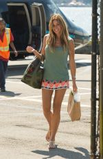 KELLY BENSIMON at a Heliport in New York 08/05/2017