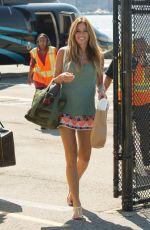 KELLY BENSIMON in Short Skirt Arrives at Her Home in New York 08/04/2017